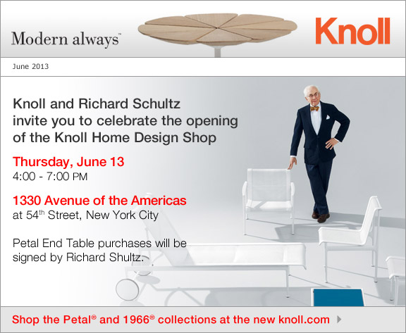 You Re Invited To The Knoll Flagship Store Launch Party June 13