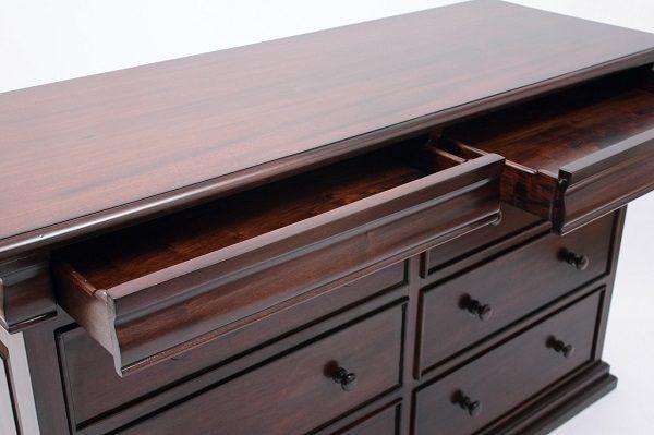 Wide French Sleigh Dresser by Laurel Crown