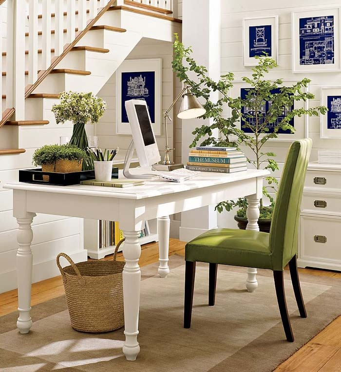 Fresh Indoor Plants Best Home Office Desk Ideas Padded Chair Rattan Basket